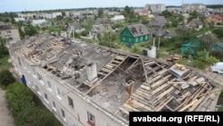 Пашкоджаны дом у Шаркаўшчыне