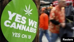 California voters failed to pass Proposition 19, a measure to legalize marijuana in the state, in 2010.
