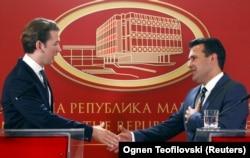 Zaev je na koferenciji za novinare nakon susreta sa austrijskim kancelarom rekao kako očekuje da i Grčka završi proces provedbe Dogovora