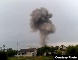 Взрыв на складе в Александровске, 30 мая 2014 года