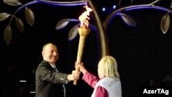 Avropa Oyunları məşəlinin alovlandırılması mərasimi - 26 aprel 2015