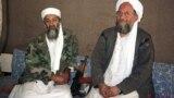 اسامه بن لادن (چپ) ۱۰ سال پیش در حمله نیروهای آمریکایی به پناهگاهش کشته شد و گفته میشود ایمن الظواهری، جانشین او (راست)، نیز مرده است.