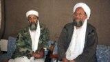 اسامه بن لادن (کیڼ طرف ته) په ۲۰۱۱ز کال کې ووژل شو چې تر هغه وروسته ایمن الظواهري (ښي لوري ته) د القاعدې ډلې مشر شو - د ارشیف انځور.