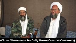 Al-Qaeda leader Osama bin Laden (left) was killed by U.S. Navy Seals in 2011. He was succeeded by Ayman al-Zawahiri (right).