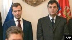 «Газпром» и «Сербия-газ» подписали документ о строительстве сербского участка «Южного потока» в присутствие первых лиц