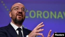 ევროკავშირის საბჭოს პრეზიდენტი შარლ მიშელი.