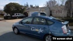 Google şirkətinin özünüsürən avtomaşını