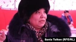 Роза Төлетаева, мұнай өндірісі жұмысшысы, белсенді. Жаңаөзен, 9 желтоқсан 2017 жыл