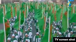 Türkmenistan sport we bagtyýarlyk gününi belleýär, Aşgabat, aprel, 2015