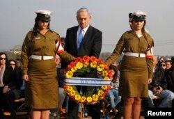 Биньямин Нетаньяху на похоронах Ариэля Шарона, 13 января 2014 года
