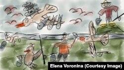 Рисунок восьмиклассника Глеба