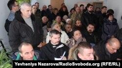 Учасники акції також взяли участь у підготовчому судовому засіданні в Ленінському райсуді Запоріжжя, 16 січня 2018 року
