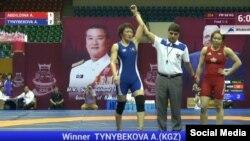 Бангкокто күрөш боюнча Азия чемпиондугунда Айсулуу Тыныбекова жеңүүчү болду.