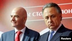 Президент ФИФА Джанни Инфантино и министр спорта РФ Виталий Мутко