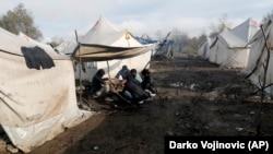 Вучак качкындар лагери.