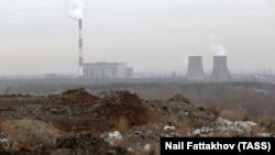 Вид на городскую свалку, которая закрылась в сентябре 2018 года, Челябинск