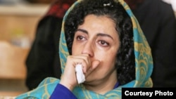 Iranian human rights activist, Narges Mohammadi, undated photo.