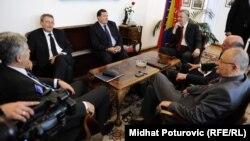 Stranački lideri na sastanku u Sarajevu, 23. maj 2012.