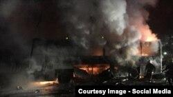 Анкарада болған жарылыс орны. Түркия, 17 ақпан 2016 жыл.