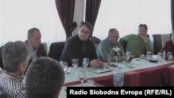 Состанок на претставници на локалните медиуми во Македонија.