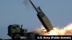 The M142 High Mobility Artillery Rocket System (HIMARS) is a U.S. light multiple-rocket launcher.