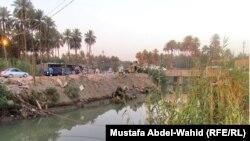 نهر صغير في كربلاء