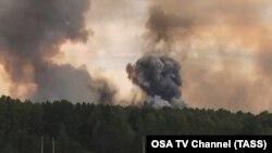 Russiýanyň Krasnoýarsk regionynyň harby bazalarynyň birinde partlama ýüze çykdy.