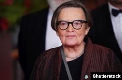 Режисерка Аґнєшка Холланд під час презентації фільму «Mr. Jones» у Берліні на 69-му «Берлінале», 10 лютого 2019 року