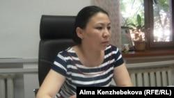 Заместитель руководителя управления по молодежной политике Кызылординской области Гульмира Нурбаева. 24 июня 2014 года.