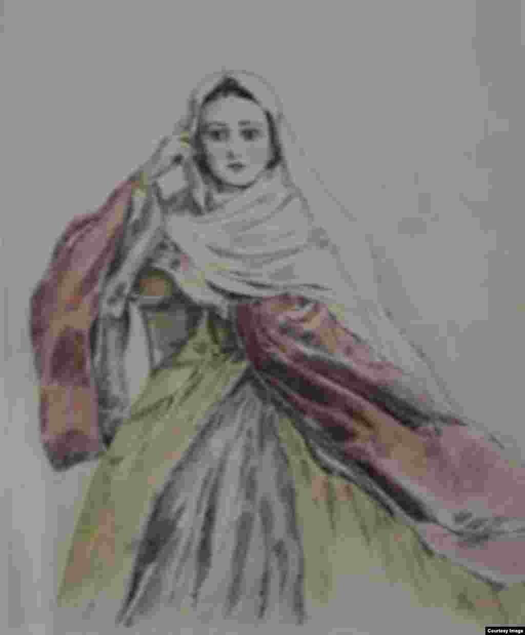 Зейнаб, кехат, шекъа, акварел