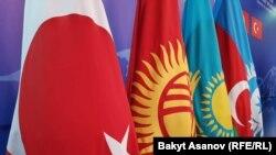 Түрк тилдүү мамлекеттердин кеңешине мүчө мамлекеттердин желектери, 3-сентябрь 2018-жыл.