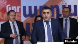 Armenia - Armen Rustamian, a leader of the Armenian Revolutionary Federation, speaks at the official launch of the party's election campaign in Yerevan, 5Mar2017.