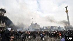 Astăzi în Piața Independenței la Kiev...
