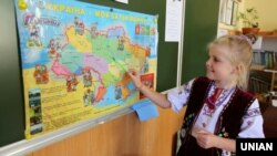 Святкування Дня знань в одній з українських шкіл