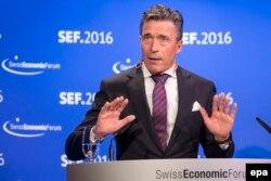 Fostul secretar-general NATO, Anders Fogh Rasmussen, la Forumul Economic Elvețian de la Interlaken