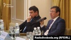 Директор НАБУ Артем Ситник і генеральний прокурор Юрій Луценко, архівне фото