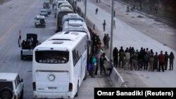 Эвакуация повстанцев из Гуты