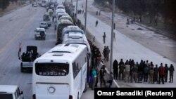 Автобусы для эвакуации из Восточной Гуты