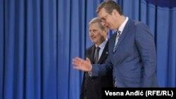 Aleksandar Vučić i Johanes Han