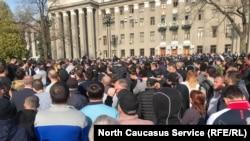 Митинг во Владикавказе 20 апреля