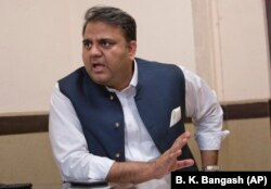 Pakistani Information and Broadcasting Minister Fawad Chaudhry