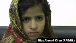 Bibi Roza, a 6-year-old girl from Pakistan's Swat Valley, whose family said tribal authorities are forcing them to marry off their daughter to resolve a family feud.