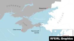 Кара деңиз жана Азов деңизи кесилишкен аймактын картасы.