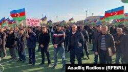 """Azərbaycan Xalq Hərəkatının """"Qarabağa azadlıq"""" mitinqi, Lökbatan qəsəbəsi, 30 noyabr 2019"""
