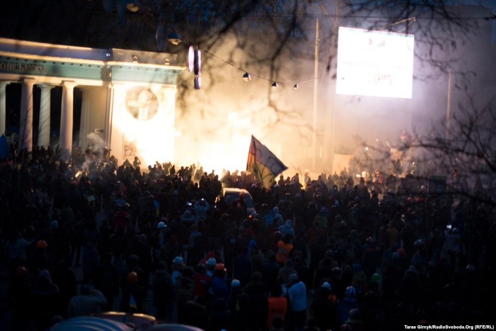 Кровавое крещение на Евромайдане