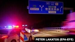 Илустрација- унаграска полиција го контролира излезот од Будимпешта