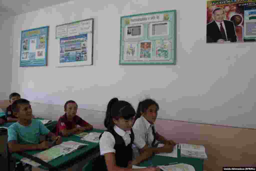 На уроке английского языка в школе села Тастагызак. Ташкентская обасть