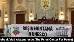 USR cere reluarea procedurilor pentru includerea Roşiei Montane în Patrimoniul UNESCO