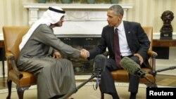 أوباما وولي عهد أبوظبي الشيخ محمد بن زايد آل نهيان - 20 نيسان 2015