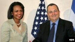 وزیر دفاع اسرائیل در دیدار با خانم رایس گفت که کشورش، ایران اتمی را تحمل نخواهد کرد. (عکس:EPA)